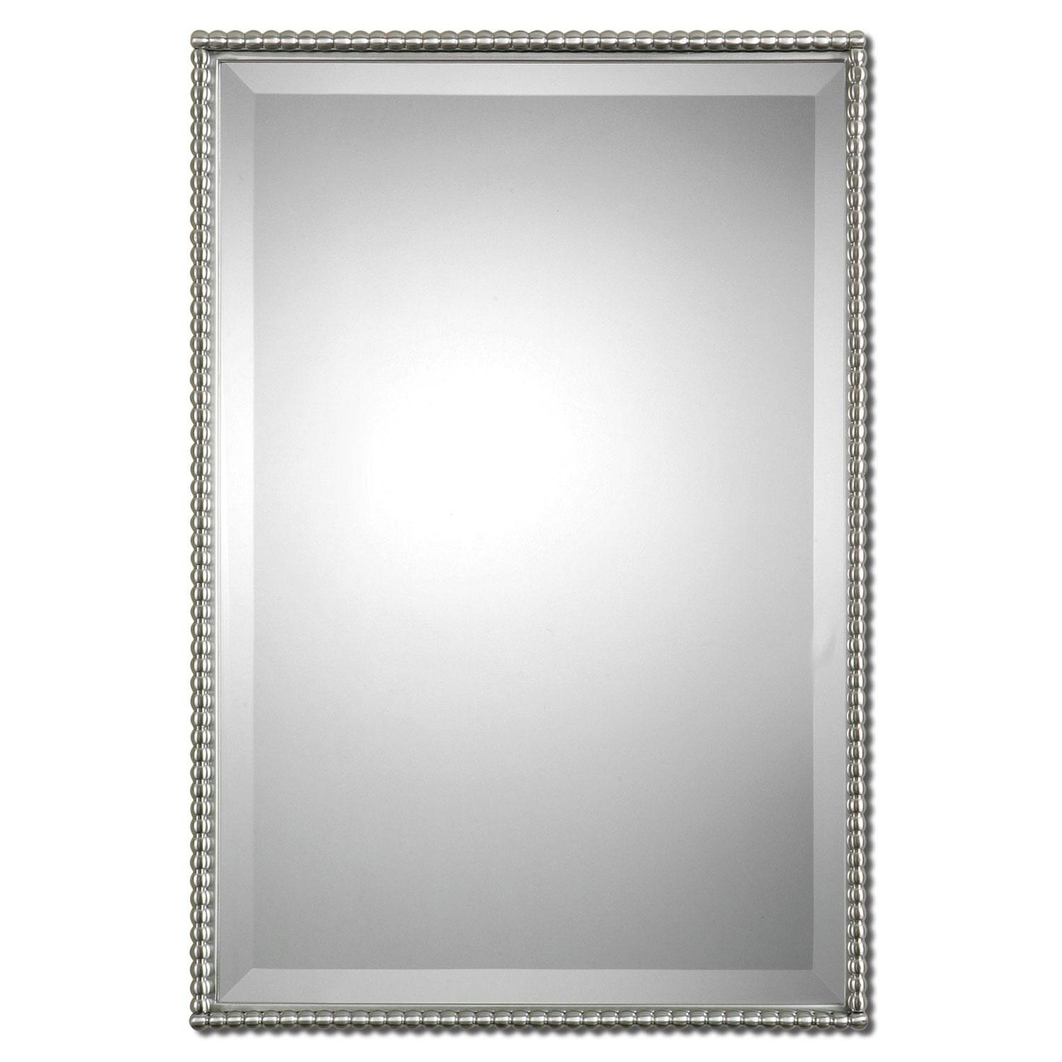 Nickel Brushed Mirrors | Bellacor For Long Rectangular Mirrors (Image 14 of 20)