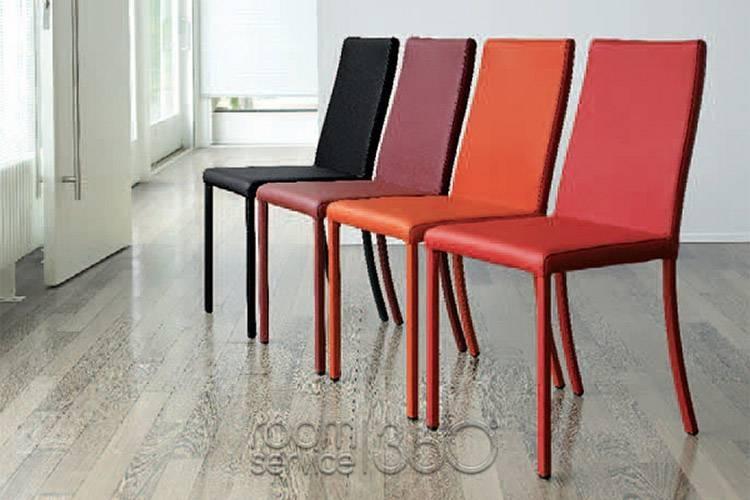 Nicole Leather Italian Modern Dining Chairantonello Italia Throughout Red Leather Dining Chairs (Image 13 of 20)