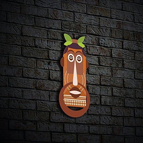 "Nish! ""tribal"" Collection Mdf Wooden Decorative Mask Wall Hanging Regarding Wooden Tribal Mask Wall Art (Image 14 of 20)"