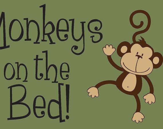 No More Monkeys Jumping On The Bed Wall Decal Children's Intended For No More Monkeys Jumping On The Bed Wall Art (Image 14 of 20)