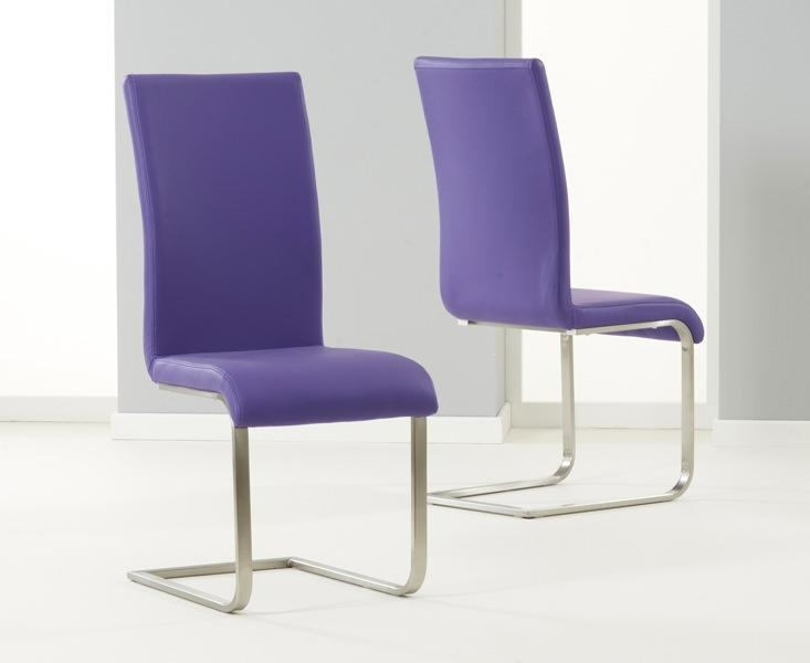Nonsensical Purple Dining Chairs Purple Faux Leather Dining Chairs Inside Most Up To Date Purple Faux Leather Dining Chairs (Image 13 of 20)
