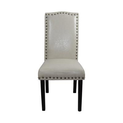 Noya Usa Castilian Leather Upholstered Dining Chair & Reviews For Most Recent Ivory Leather Dining Chairs (View 18 of 20)