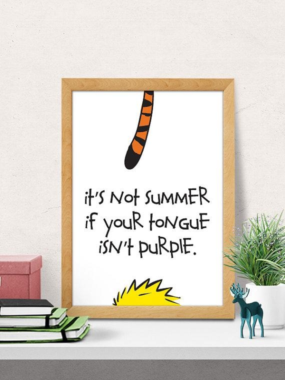 Nursery Decor Kids Room Decor Nursery Wall Art Calvin And Regarding Calvin And Hobbes Wall Art (View 19 of 20)