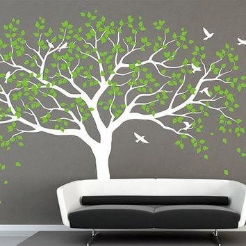 Nursery Tree Wall Decal Tree Decals Vinyl From Iwalldecals On With Oak Tree Vinyl Wall Art (Image 17 of 20)