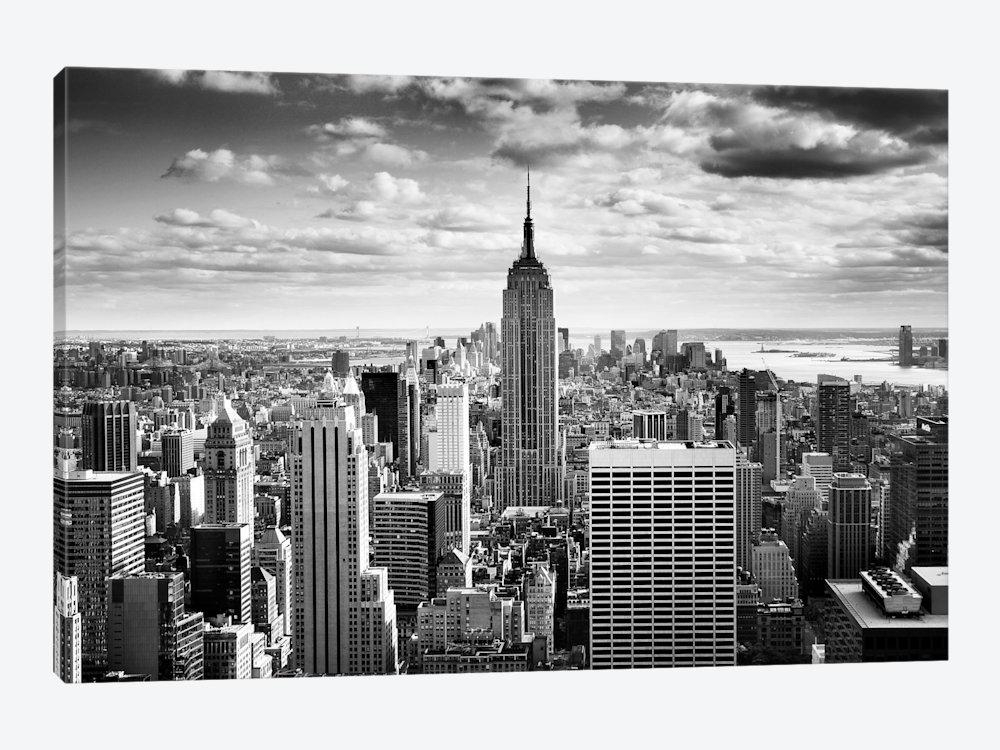 Nyc Downtown Canvas Art Printnina Papiorek | Icanvas Intended For New York Skyline Canvas Black And White Wall Art (Image 11 of 20)