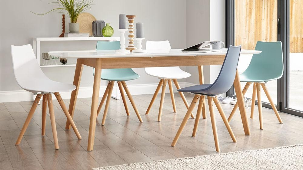 oak and white extending dining table 8 seater uk intended for most up to - Oak Dining Table And 8 Chairs