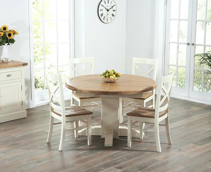 Oak Circular Dining Table – Zagons (Image 16 of 20)