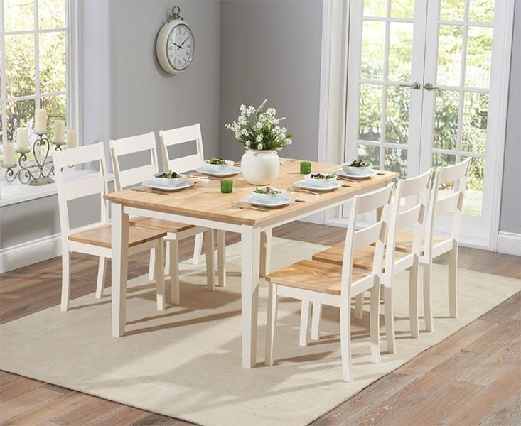 Oak & Cream Dining Tables & Chair Sets | Oak Furniture Superstore Pertaining To Latest Cream Dining Tables And Chairs (View 10 of 20)