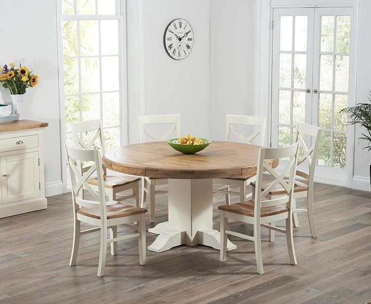 Oak & Cream Dining Tables & Chair Sets | Oak Furniture Superstore Within Most Up To Date Cream And Oak Dining Tables (View 12 of 20)