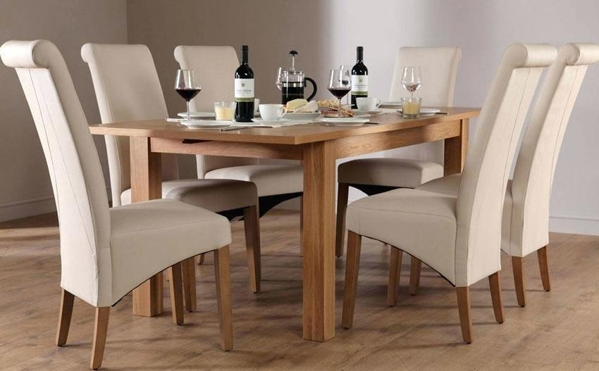 Oak Dining Table And 8 Chairs – Hampton Solid Oak 120 160 Cm Pertaining To Most Current Oak Dining Tables 8 Chairs (Image 16 of 20)