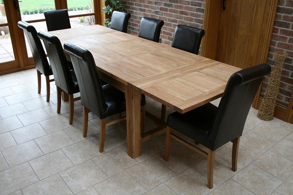 Oak Dining Table And 8 Chairs – Sl Interior Design In Most Popular Oak Dining Tables 8 Chairs (Image 17 of 20)