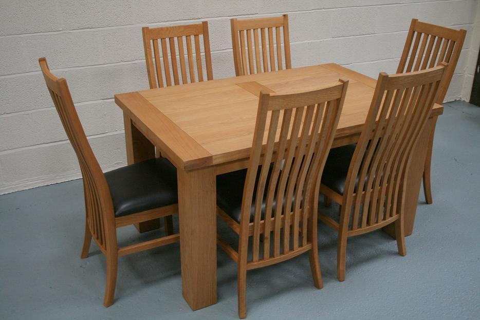 Oak Dining Table And Chairs – Coredesign Interiors In Recent Cheap Oak Dining Sets (Image 16 of 20)