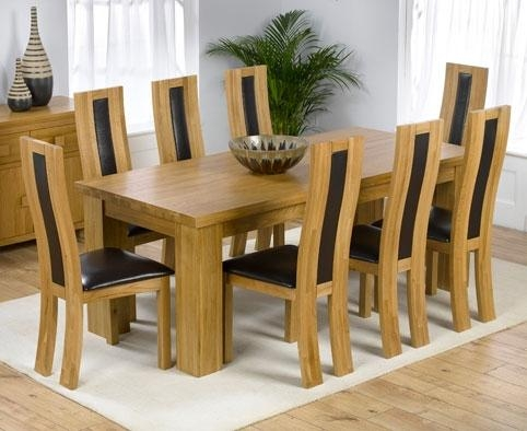 Oak Dining Table And Chairs (Image 17 of 20)