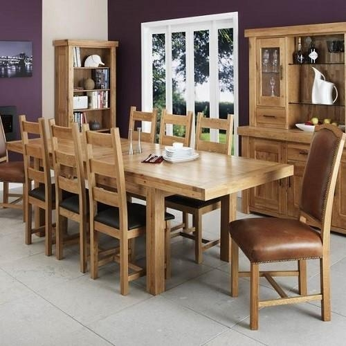 Oak Dining Table And Chairs Magnificent Dining Room Furniture Oak Within Most Popular Oak Dining Furniture (Image 14 of 20)