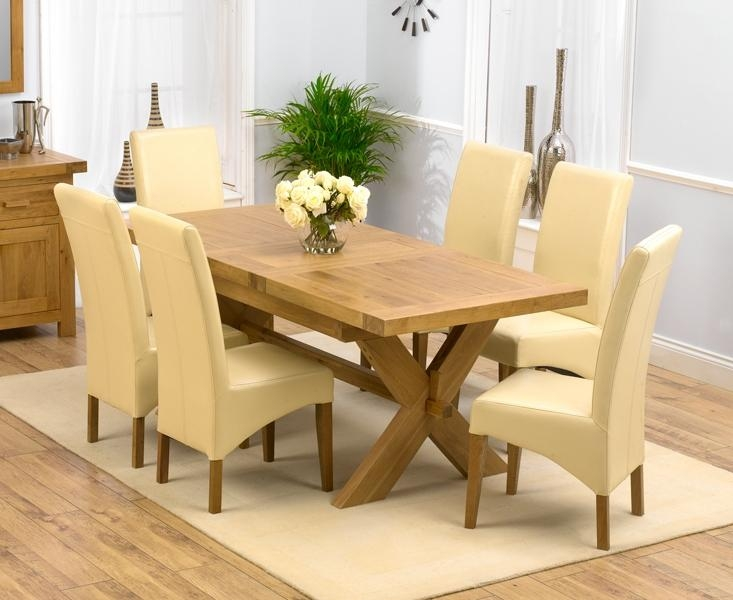 Oak Dining Table Chairs I92 On Lovely Furniture Home Design Ideas With Most Up To Date Cream Dining Tables And Chairs (View 11 of 20)