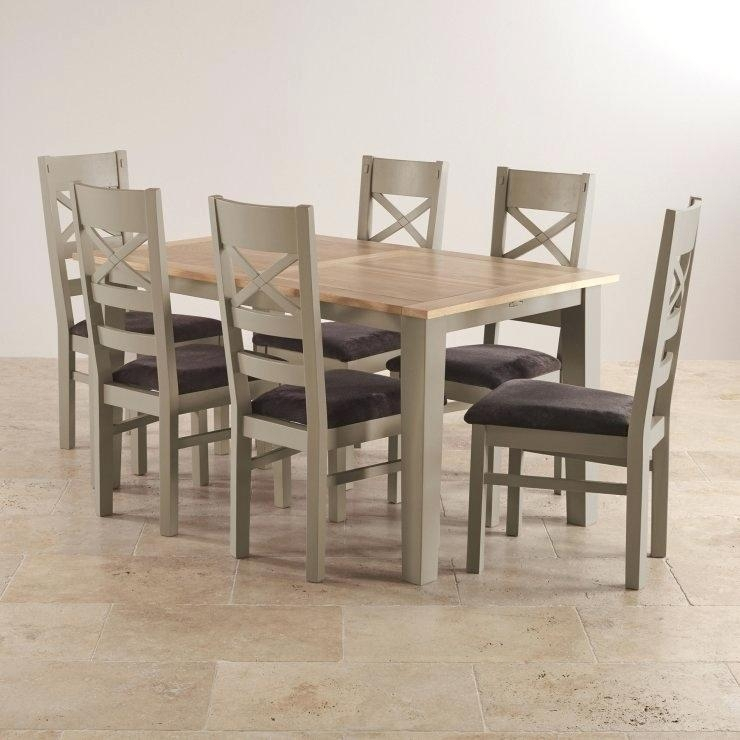 Oak Extending Dining Table And 6 Chairs – Zagons (View 9 of 20)