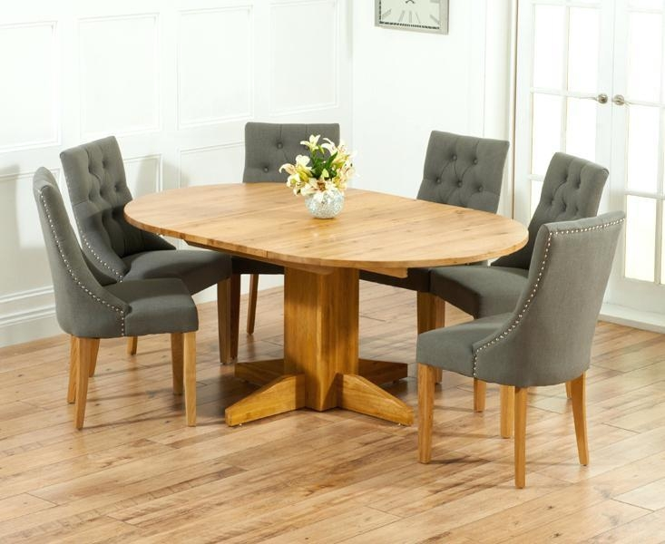 Oak Extending Dining Table And 6 Chairs – Zagons (View 10 of 20)