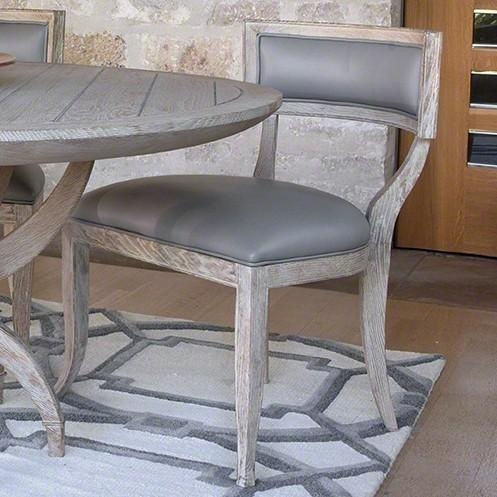 Oak Sandblasted Grey Leather Dining Chair – The Designer Insider Pertaining To Grey Leather Dining Chairs (View 20 of 20)