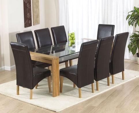 Oak Table And Chairs – Wooden Dining Room Chairs Throughout Most Up To Date Oak Dining Tables And Leather Chairs (Image 14 of 20)
