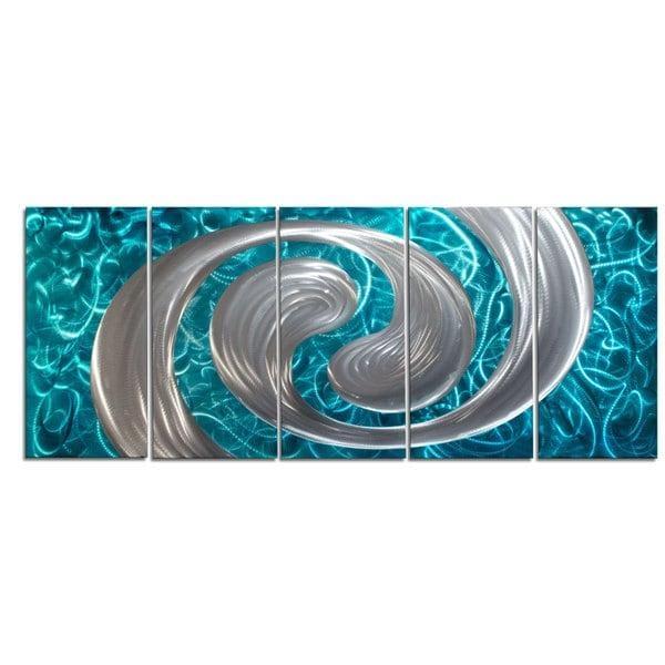 Ocean Swirl' Metal Wall Art – Free Shipping Today – Overstock Throughout Swirl Metal Wall Art (Image 15 of 20)