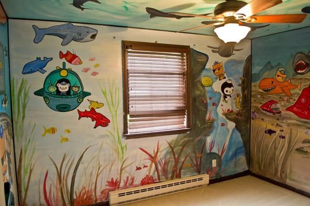 Octonauts Kid's Room Mural – Eclectic – Kids – New York Cny Within Octonauts Wall Art (View 18 of 20)