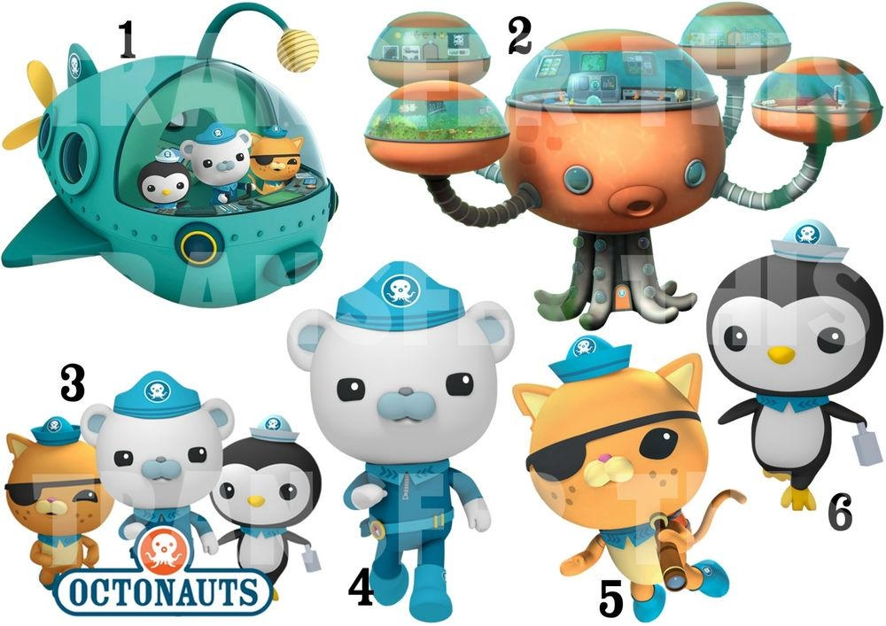 Octonauts Sticker Wall Decal Or Iron On Transfer T Shirt Fabrics Regarding Octonauts Wall Art (Image 16 of 20)