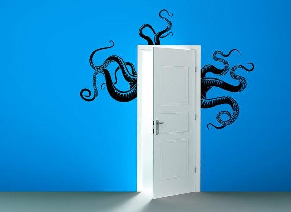 Octopus Tentacles Removable Vinyl Wall Art Sea Monster Kraken Within Octopus Tentacle Wall Art (Image 11 of 20)