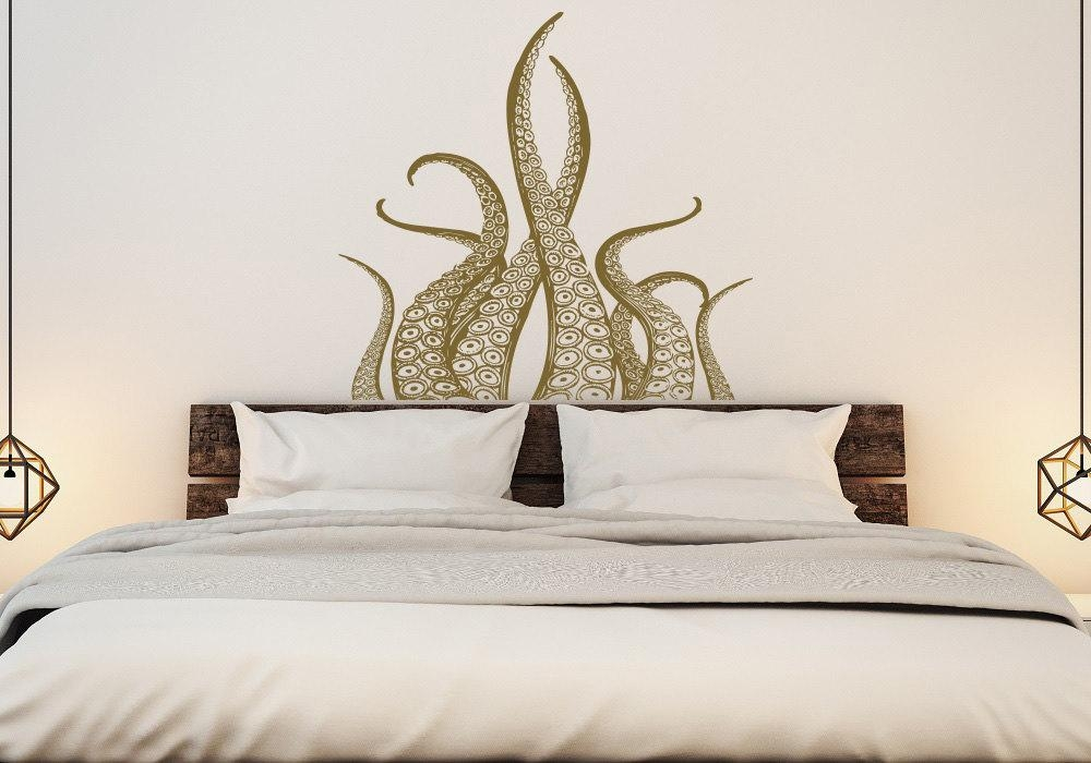 Octopus Tentacles Wall Decal Kraken Art Octopus Decal Regarding Octopus Tentacle Wall Art (Image 15 of 20)