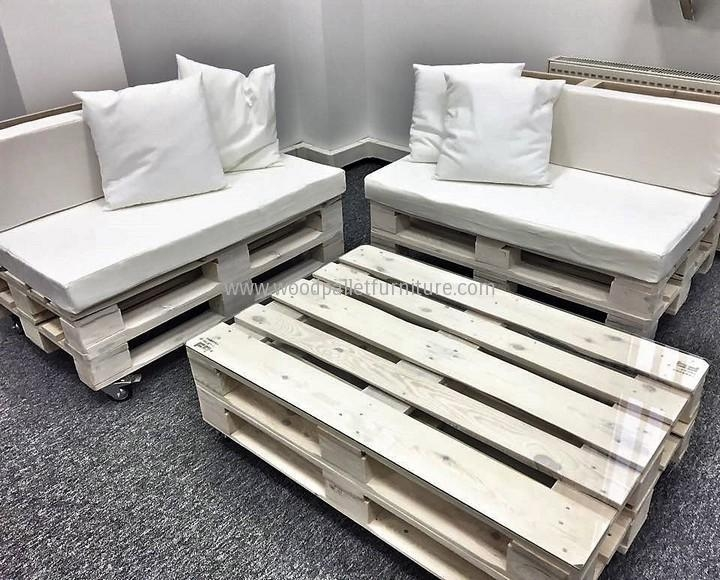 Office Furniture Made With Pallets | Wood Pallet Furniture Throughout Pallet Sofas (Image 10 of 20)
