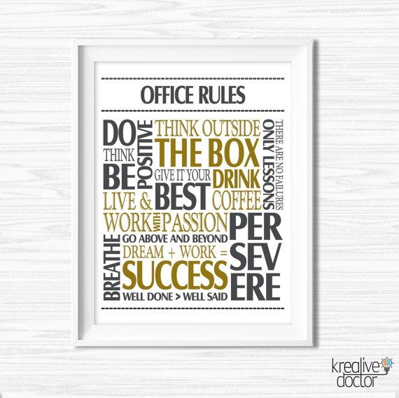 Office Wall Art Motivational Wall Decor Inspirational Quote Pertaining To Inspirational Wall Decals For Office (Image 14 of 20)