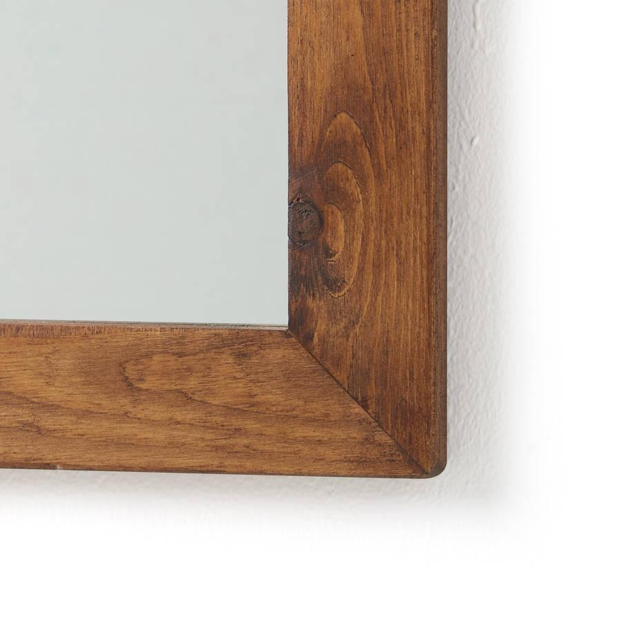 Old Wood Framed Mirrorshorsfall & Wright | Notonthehighstreet Intended For Vintage Wood Mirrors (Image 13 of 20)