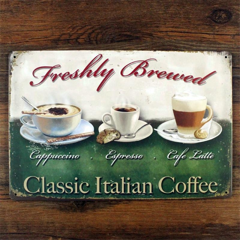 Online Get Cheap Italian Iron Wall Art  Aliexpress | Alibaba Group Intended For Italian Coffee Wall Art (Image 14 of 20)