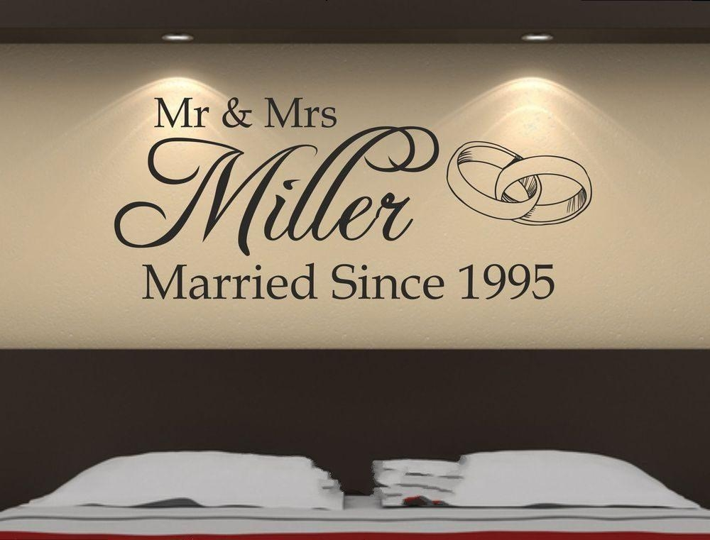Online Get Cheap Personalized Wall Decals Mr Mrs  Aliexpress With Regard To Mr And Mrs Wall Art (Image 13 of 20)