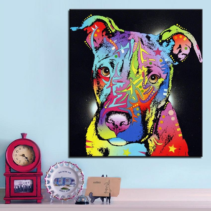 Online Get Cheap Pitbull Wall Art  Aliexpress | Alibaba Group Inside Pitbull Wall Art (Image 11 of 20)