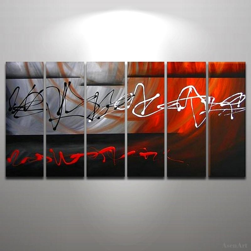 Online Get Cheap Wall Art Canvas Abstract Red Aliexpress In Red And Black Canvas Wall Art (View 13 of 20)