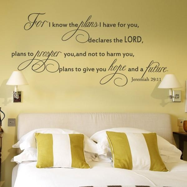 Online Shop For I Know The Plansbible Verse Jeremiah 29 Inside Biblical Wall Art (Image 14 of 20)