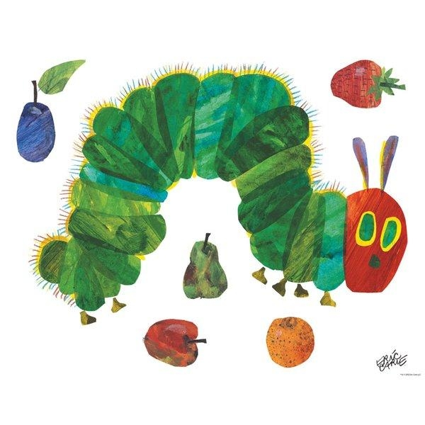 Oopsy Daisy Eric Carle's Very Hungry Caterpillar (Tm) – Small Peel Regarding Eric Carle Wall Art (Image 15 of 20)