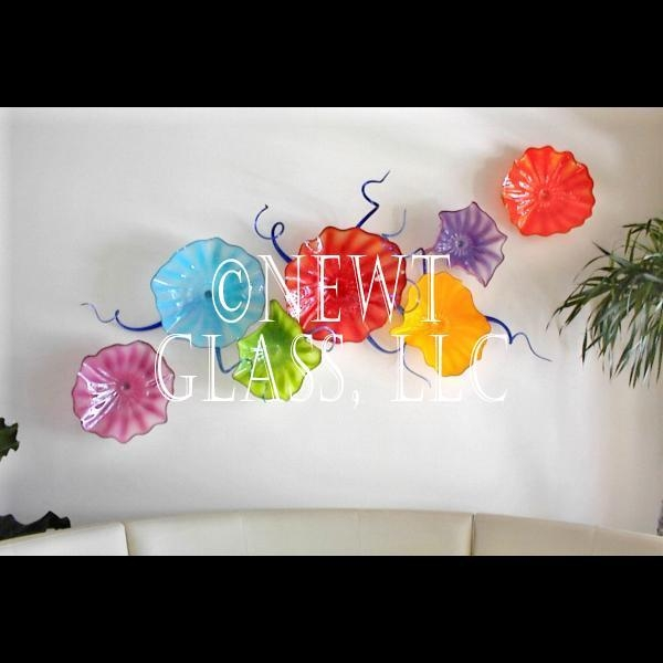 Opaque Spring Blown Glass Wall Art – Gallery Pertaining To Glass Wall Art For Sale (View 5 of 20)