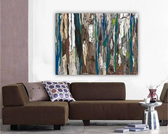 Original Very Large Masculine Wall Art Abstract Landscape For Very Large Wall Art (Image 12 of 20)