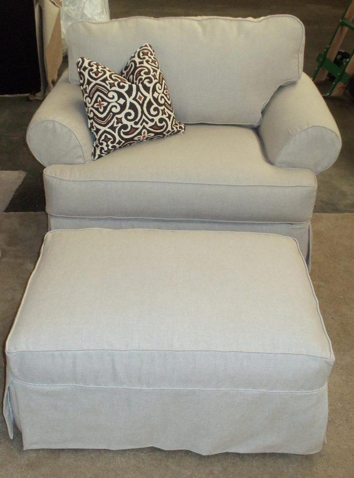 Ottoman : Splendid Rowe Addison Chair And Half Large With Ottoman With Rowe Slipcovers (Image 7 of 20)