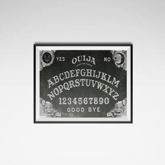 Ouija Board Poster Ouija Print Occult Poster Wall Art For Ouija Board Wall Art (Image 13 of 20)