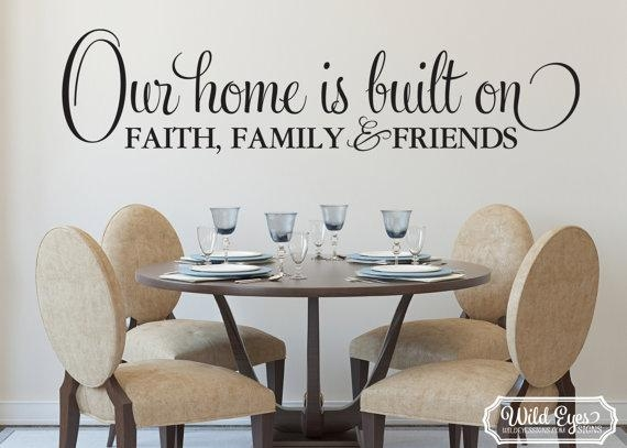 Our Home Is Built On Faith Family And Friends Wall Art Within Faith Family Friends Wall Art (View 4 of 20)