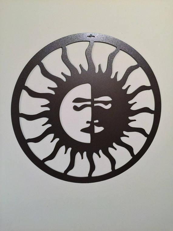 Outdoor Metal Art Sun Moon Outdoor Art Pool Art Custom Regarding Sun And Moon Metal Wall Art (View 19 of 20)