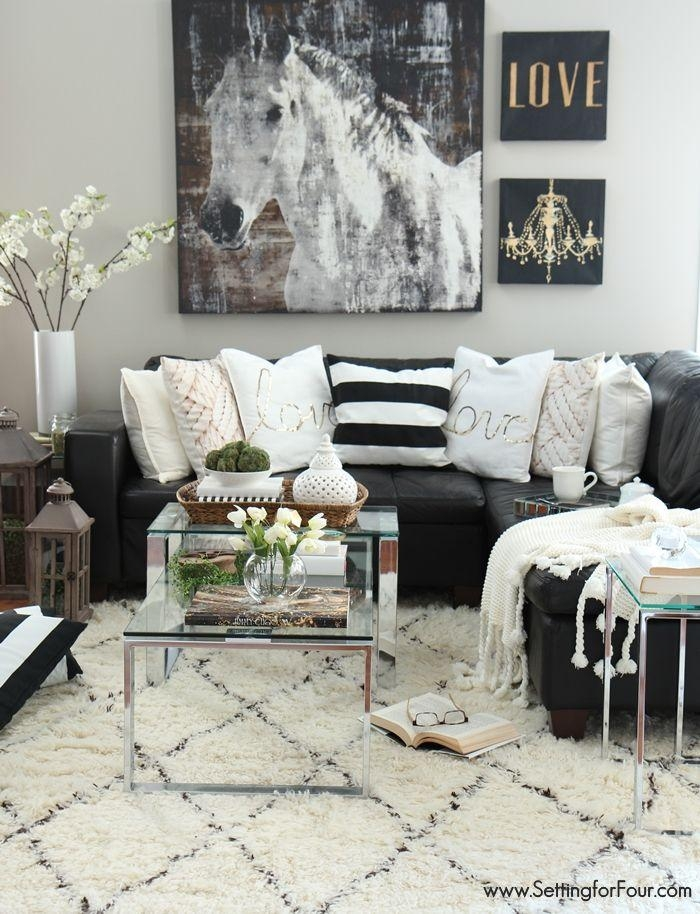 Outstanding Black And White Decor Ideas For Living Room 98 For Regarding Black Sofas Decors (Image 20 of 20)