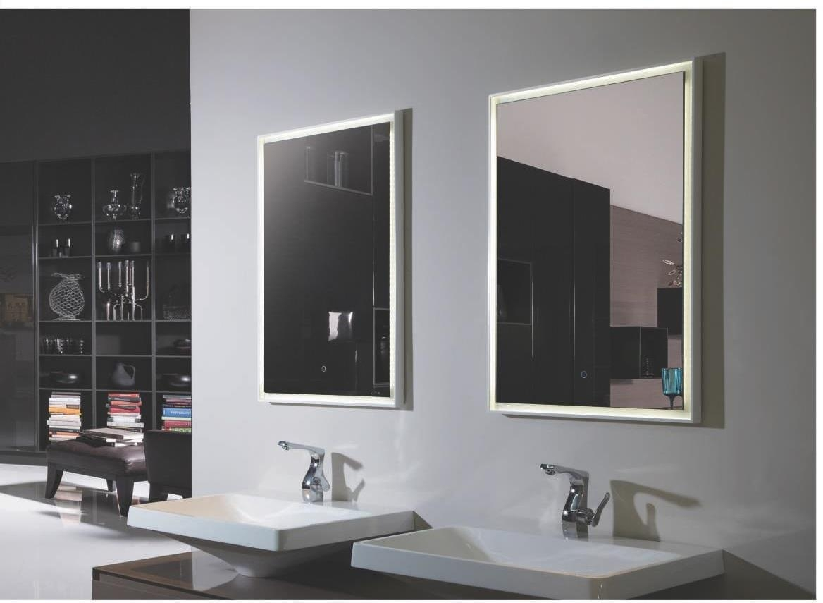 Outstanding Lighted Bathroom Mirrors Fiori Lighted Vanity Mirror Throughout Led Lighted Mirrors (Image 19 of 20)
