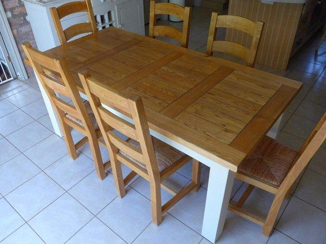 Outstanding Second Hand Oak Dining Table And Chairs 84 On Diy Regarding Current Second Hand Oak Dining Chairs (Image 10 of 20)