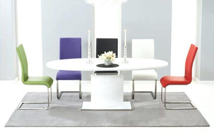 Oval And Round High Gloss Dining Table Sets White Gloss Dining Regarding Best And Newest White Gloss Round Extending Dining Tables (Image 5 of 20)
