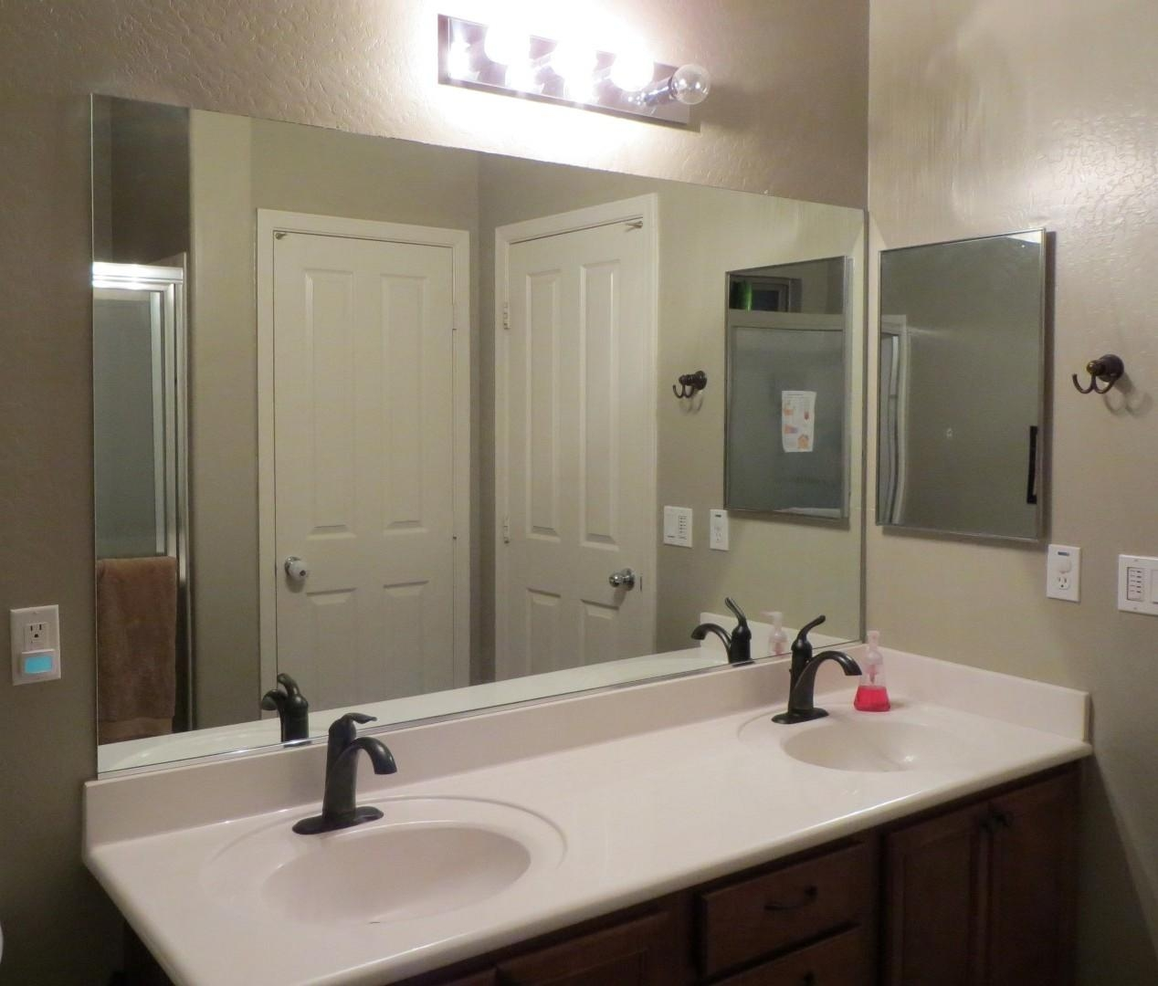 Oval Brown Wooden Frame Wall Mirror Bathroom Mirrors Lowes Large In Large Mirrors For Bathroom Walls (Image 20 of 20)