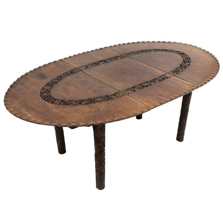 Oval Carved Wood North Indian Dining Table At 1Stdibs Inside Most Popular Indian Dining Tables (Image 17 of 20)