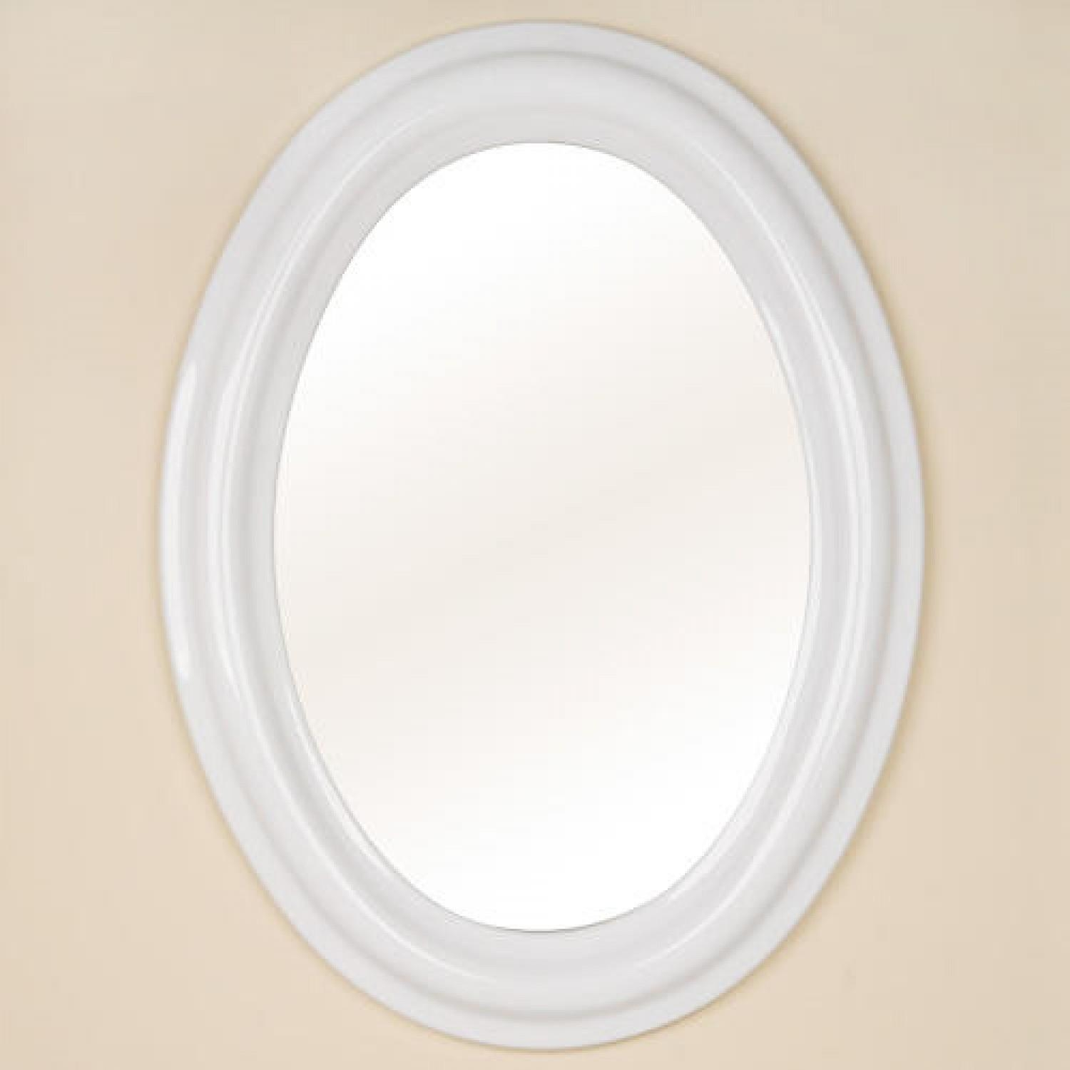 Oval Ceramic Mirror – White – Bathroom With Regard To Oval Bath Mirrors (View 2 of 20)